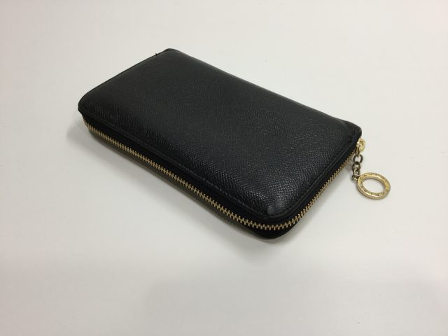BVLGARI(ブルガリ)のお財布のファスナー交換が完了しました(東京都町田市E様) after