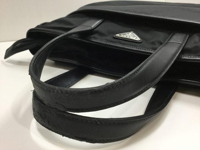 PRADA(プラダ)のバッグの持ち手交換修理が完了しました(愛知県豊川市Y様) before