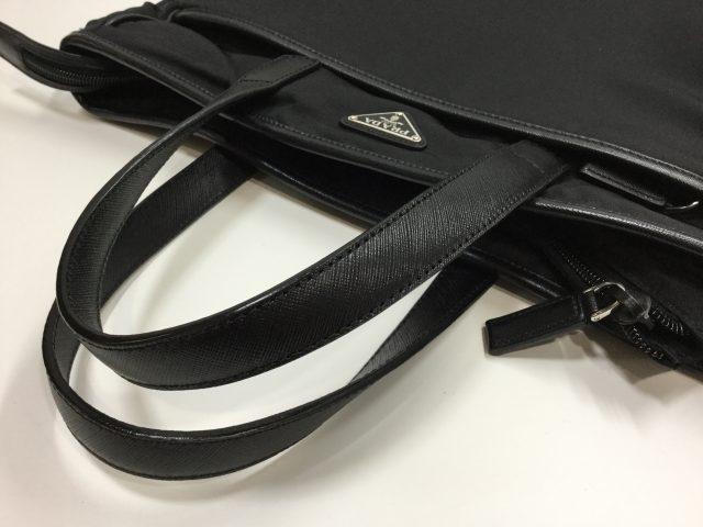 PRADA(プラダ)のバッグの持ち手交換修理が完了しました(愛知県豊川市Y様)after