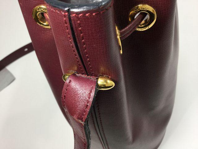 Cartier(カルティエ)のバッグのループ継ぎ足しが完了しました(愛知県名古屋市N様)before02