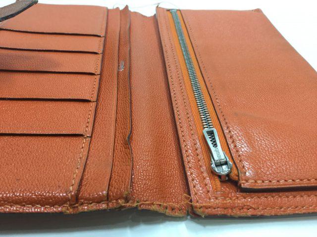 エルメス(Hermès)のお財布のベルト・ループ作成、ほつれ縫いが完了しました(愛知県名古屋市M様)before03