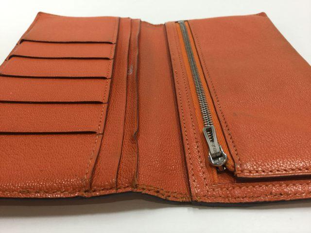 エルメス(Hermès)のお財布のベルト・ループ作成、ほつれ縫いが完了しました(愛知県名古屋市M様)after02