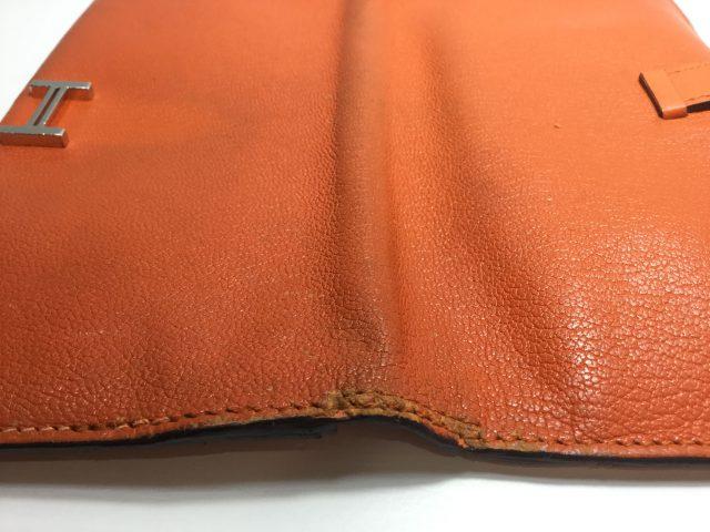エルメス(Hermès)のお財布のベルト・ループ作成、ほつれ縫いが完了しました(愛知県名古屋市M様)after04