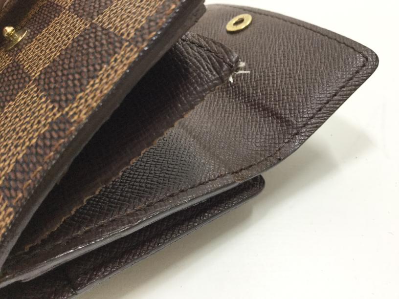 Louis Vuitton(ルイ・ヴィトン)のお財布のマチ補修が完了しました(愛知県名古屋市S様) before