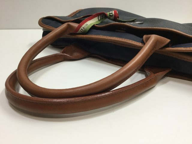 Orobianco(オロビアンコ)のバッグの持ち手交換修理が完了しました(愛知県名古屋市A様) after