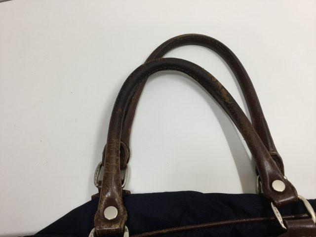 Orobianco(オロビアンコ)のバッグの持ち手作成交換が完了しました(愛知県豊田市S様)before