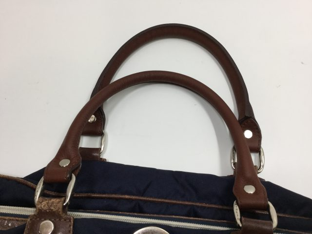 Orobianco(オロビアンコ)のバッグの持ち手作成交換が完了しました(愛知県豊田市S様)after