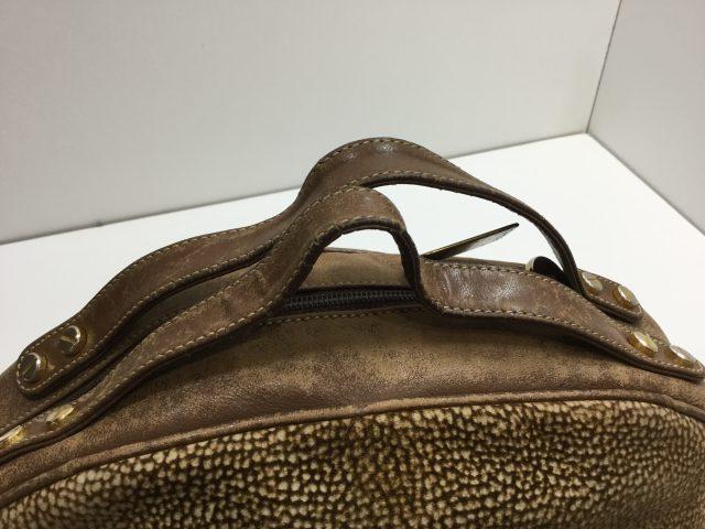 BORBONESE (ボルボネーゼ)のバッグの持ち手作成交換が完了しました(愛知県名古屋市S様)before03