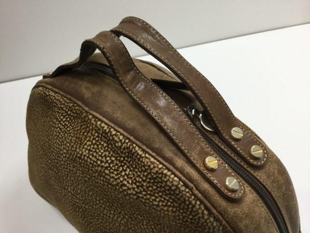 BORBONESE (ボルボネーゼ)のバッグの持ち手作成交換が完了しました(愛知県名古屋市S様)before