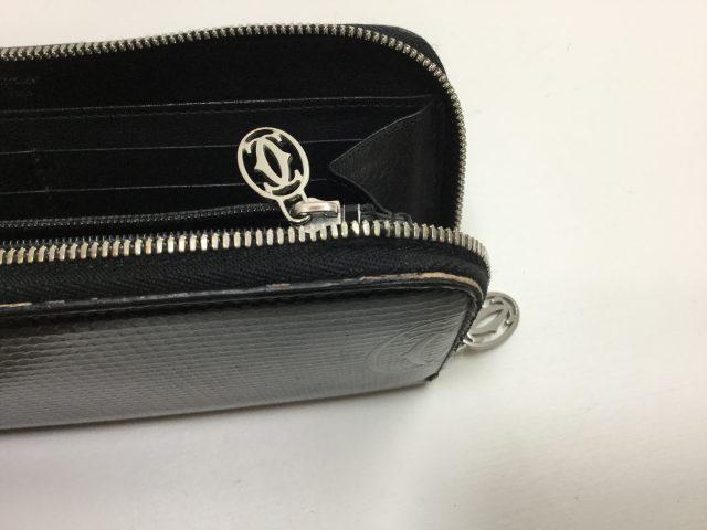 Cartier(カルティエ)のお財布のファスナー交換が完了しました(愛知県名古屋市K様) before