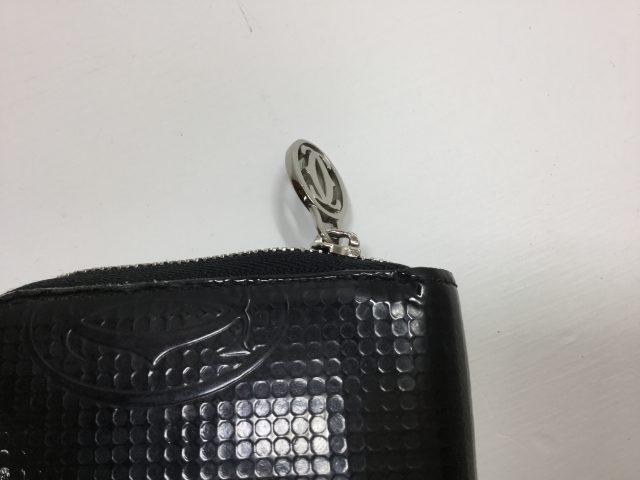 Cartier(カルティエ)のお財布のファスナー交換が完了しました(愛知県名古屋市K様)before02