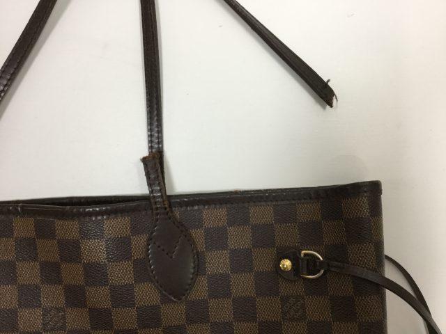 Louis Vuitton(ルイ・ヴィトン)のバッグの持ち手交換修理が完了しました(三重県津市T様)before02