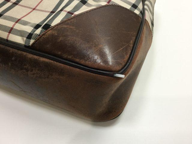 BURBERRY(バーバリー)のバッグのパイピング交換が完了しました(愛知県名古屋市S様)before