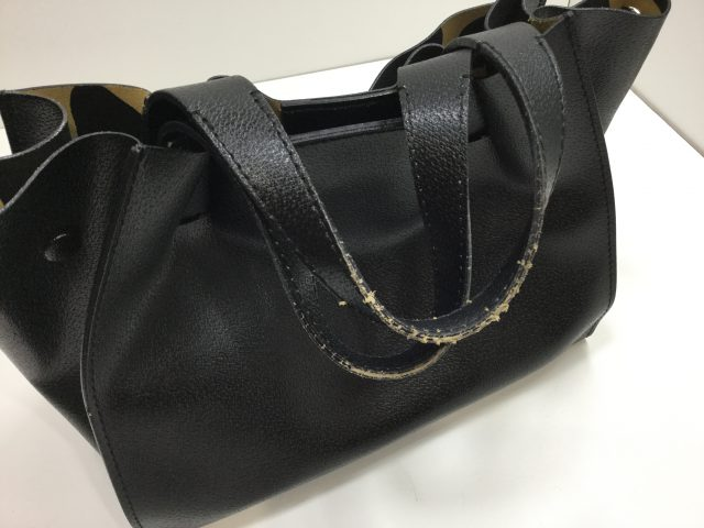 GIANNI CHIARINI(ジャンニ キャリーニ)のバッグの持ち手作成交換が完了しました。( 愛知県名古屋市N様)before