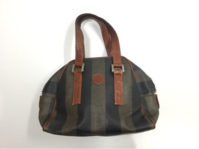 FENDI(フェンディ)のPEQUIN(ペカン)柄バッグの持ち手・ファスナー・内袋交換が完了しました(兵庫県神戸市O様) before