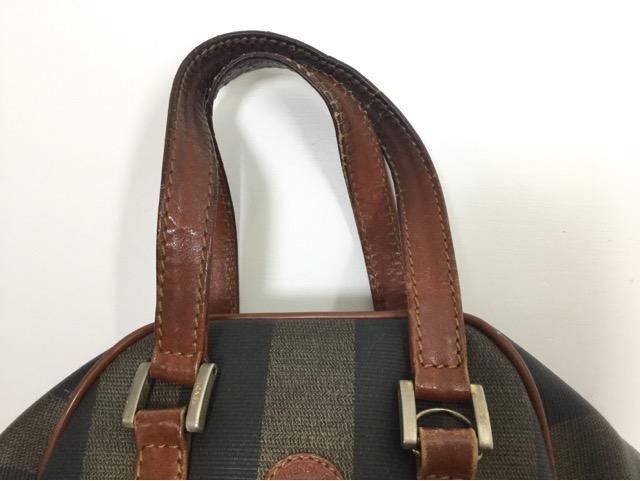 FENDI(フェンディ)のPEQUIN(ペカン)柄バッグの持ち手・ファスナー・内袋交換が完了しました(兵庫県神戸市O様)before02