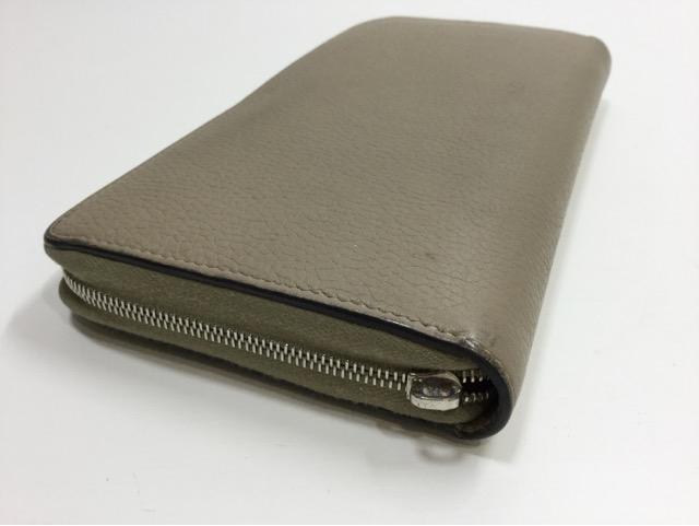 CELINE(セリーヌ)のお財布の引き手作成・取り付け(メインファスナー1カ所)が完了しました。(大阪府枚方市S様) before