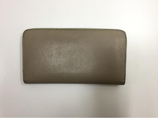 CELINE(セリーヌ)のお財布の引き手作成・取り付け(メインファスナー1カ所)が完了しました。(大阪府枚方市S様)before02