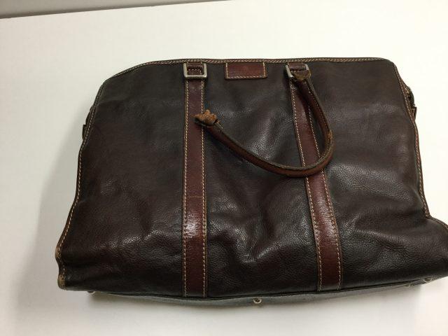 DEUX MONCX(デュモンクス)のcatana(カターナ)ブリーフケースバッグの持ち手の作成交換が完成しました。(愛知県名古屋市S様) before
