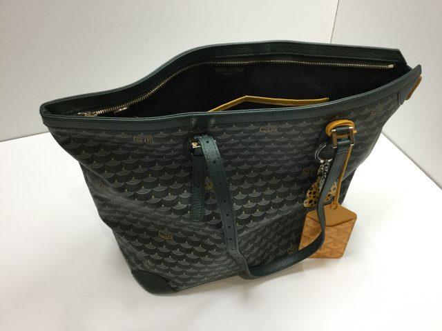 Faure Le Page(フォレ・ル・パージュ)のDaily Battle Zipped Tote(デイリー・バトル・ジップド・トート)のエカイユ模様のバッグのファスナー交換が完了しました。(愛知県名古屋市F様) before