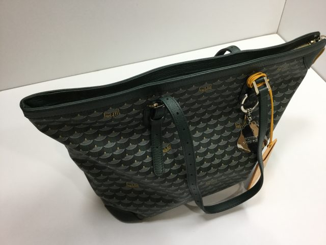Faure Le Page(フォレ・ル・パージュ)のDaily Battle Zipped Tote(デイリー・バトル・ジップド・トート)のエカイユ模様のバッグのファスナー交換が完了しました。(愛知県名古屋市F様) after