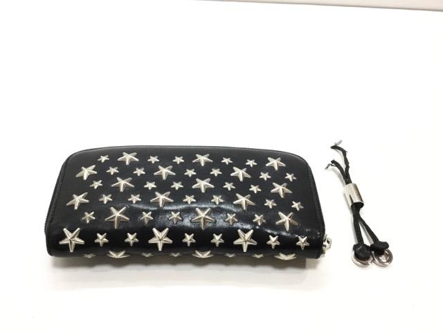 兵庫県神戸市A様より、Jimmy Choo(ジミーチュウ)のお財布の引き手作成が完了しました。 before